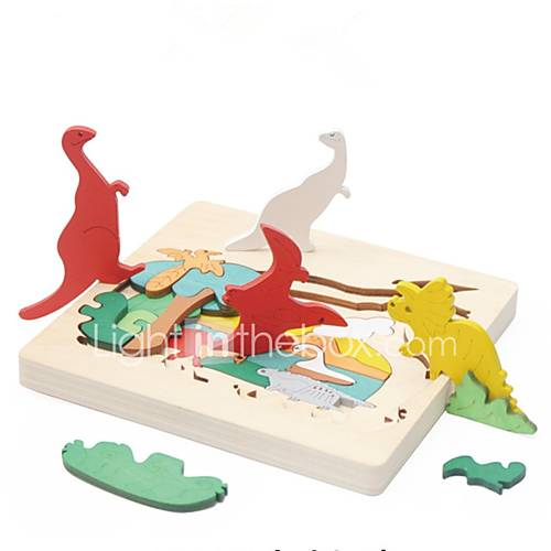 Wooden Puzzles Toys Animals Classic Theme Special Designed Focus Toy Relieves ADD ADHD Anxiety Autism Parent-Child Interaction Wooden