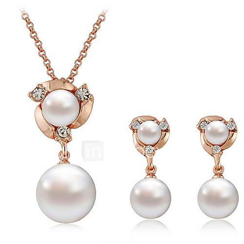 Women's Drop Earrings Necklace Rhinestone Imitation Pearl Imitation Pearl Imitation Diamond Alloy Ball Classic Fashion Daily 1 Necklace