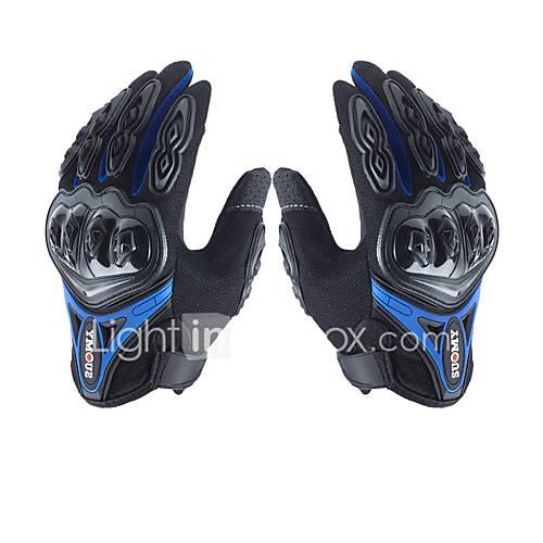 su0my su-10 motorcycle gloves wateproof anti-slip full finger nylon material