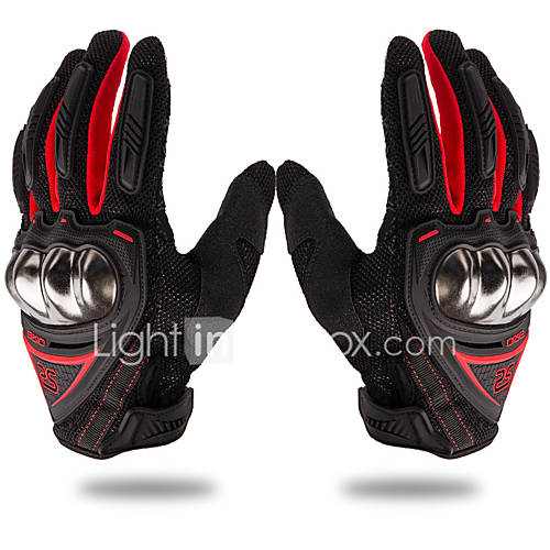 Sporty Unisex Motorcycle Gloves Polyster Breathability / Comfortable / Padded