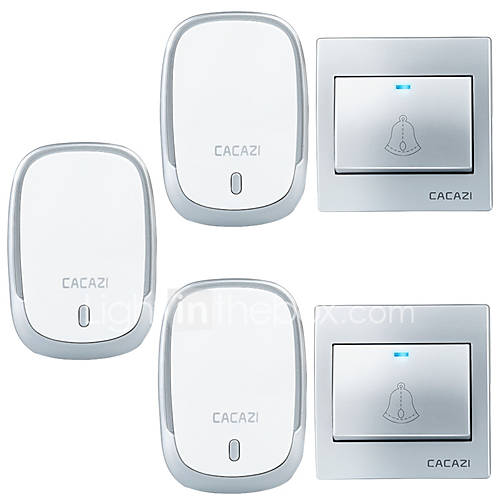 Ding dong Music Two to Three Doorbell Sound adjustable Wireless Doorbell 300 Surface Mounted