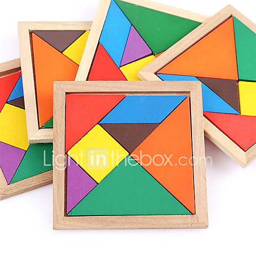 Wooden Puzzles Flat Shape Focus Toy Hand-made Wooden Birthday Family Universal Toy Baby Gift