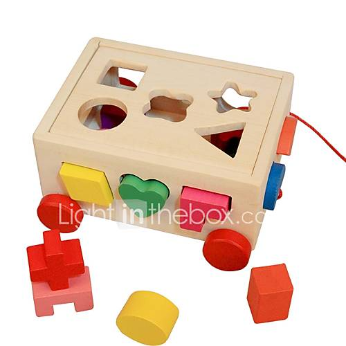 Wooden Puzzle / Logic  Puzzle Toy Cute Wooden 16pcs Preschool Gift