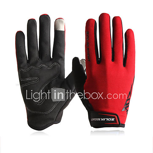ZOLI Full Finger Unisex Motorcycle Gloves Cloth Quick Dry / Breathable / Touch Screen