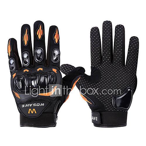 WOSAWE Full Finger Unisex Motorcycle Gloves PVC (Polyvinylchlorid) / SBR Breathable / Wearproof / Non-slip