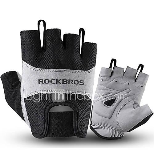 ROCKBROS Half-finger Unisex Motorcycle Gloves Cloth / Spandex Lycra Breathable / Non-slip