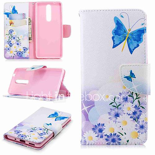Case For Nokia Nokia 5.1 / Nokia 3.1 Wallet / Card Holder / with Stand Full Body Cases Butterfly Hard PU Leather for Nokia 8 / Nokia 6 / Nokia 6 2018