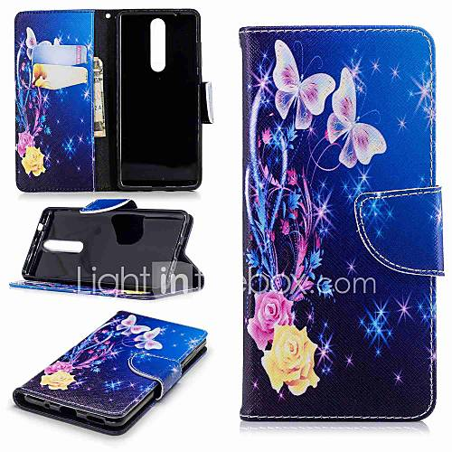Case For Nokia Nokia 5.1 / Nokia 3.1 Wallet / Card Holder / with Stand Full Body Cases Butterfly Hard PU Leather for Nokia 8 / Nokia 6 2018 / Nokia 2.1