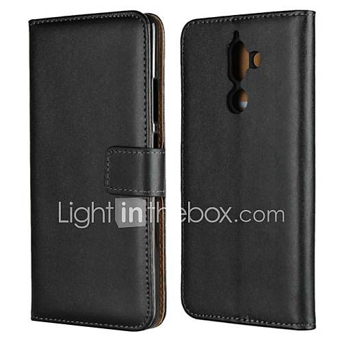 Case For Nokia Nokia 5.1 / Nokia 3.1 Wallet / Card Holder / with Stand Full Body Cases Solid Colored Hard Genuine Leather for Nokia 9 / Nokia 8 / Nokia 7 / Nokia 6