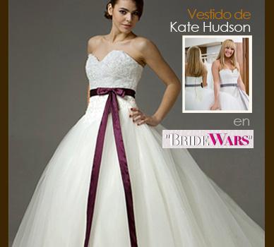 Vestido de Kate Hudson en Bride Wars