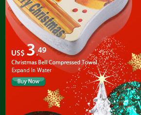 Christmas Bell Compressed Towel