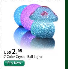 7 Color Crystal Ball Light