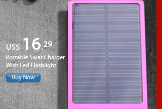 Portable Solar Charger With Led Flashlight