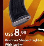 Revolver Shaped Lighter With Jacket