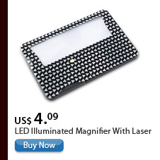 LED Illuminated Magnifier With Laser