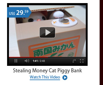 Stealing Money Cat Piggy Bank