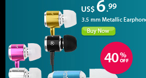 3.5 mm Metallic Earphones