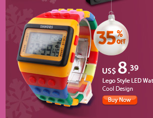Lego Style LED Watch