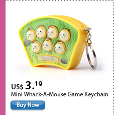 Mini Whack-A-Mouse Game Keychain