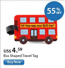 Bus Shaped Travel Tag