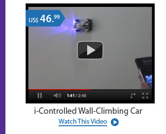 i-Controlled Wall-Climbing Car