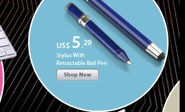 Stylus With Retractable Ball Pen