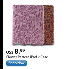 Flower Pattern iPad 2 Case