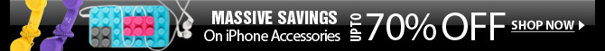 Massive Savings On iPhone Accessories Up To 70% OFF