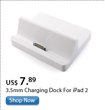 3.5mm Charging Dock For iPad 2