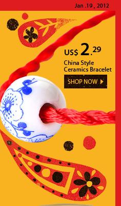 China Style Ceramics Bracelet