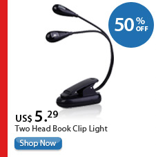 Two Head Book Clip Light