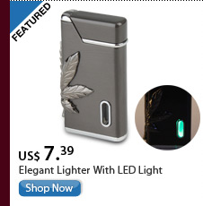 Elegant Lighter With LED Light
