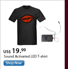 Sound Activated LED T-shirt
