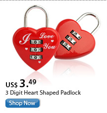 3 Digit Heart Shaped Padlock