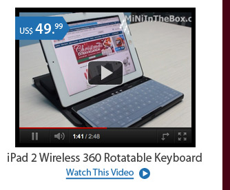iPad 2 Wireless 360 Rotatable Keyboard