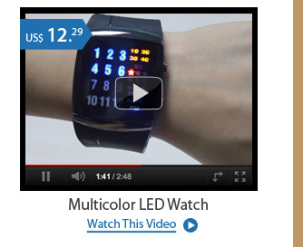 Multicolor LED Watch