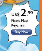 Pirate Flag Keychain