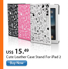 Cute Leather Case Stand For iPad 2