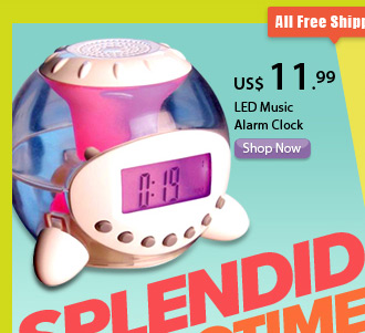 LED Music Alarm Clock