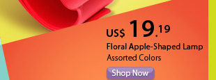 Floral Apple-Shaped Lamp