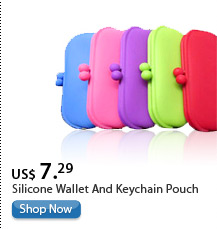 Silicone Wallet And Keychain Pouch