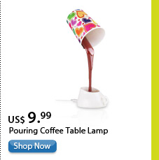 Pouring Coffee Table Lamp