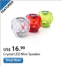 Crystal LED Mini Speaker
