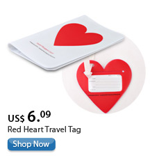 Red Heart Travel Tag