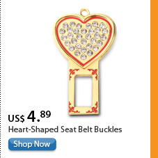 Heart-Shaped Seat Belt Buckles