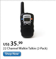 22 Channel Walkie Talkie (2-Pack)