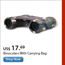 Binoculars With Carrying Bag