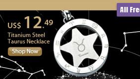 Titanium Steel Taurus Necklace