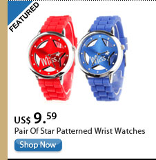 Pairs Of Star Patterned Wrist Watches