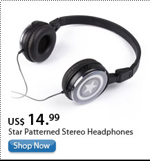 Star Patterned Stereo Headphones